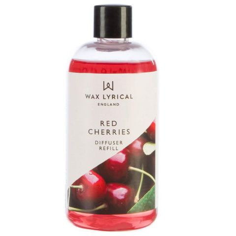 Red Cherries Fragranced Reed Diffuser Refill Made In England Wax Lyrical 200ml